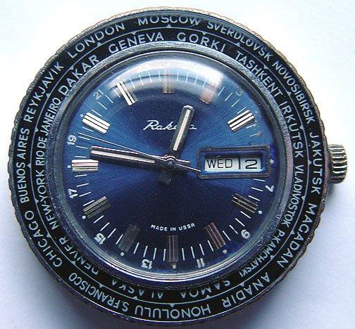 Raketa World Time English version