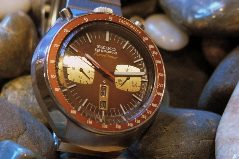 Seiko 6138 Bullhead, brown color scheme