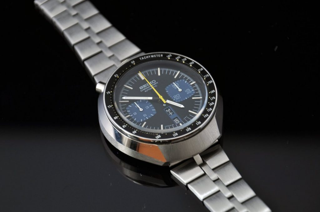 "Seiko 6138 ""Bullhead"", black-blue color scheme"