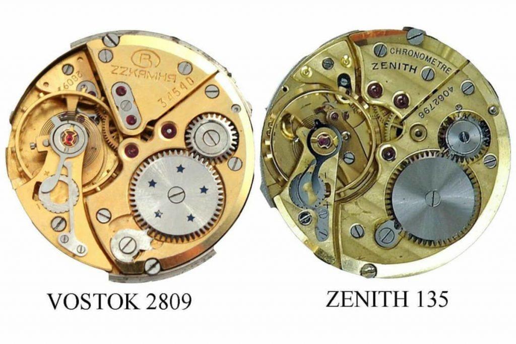 Vostok 2809 vs Zenith 135
