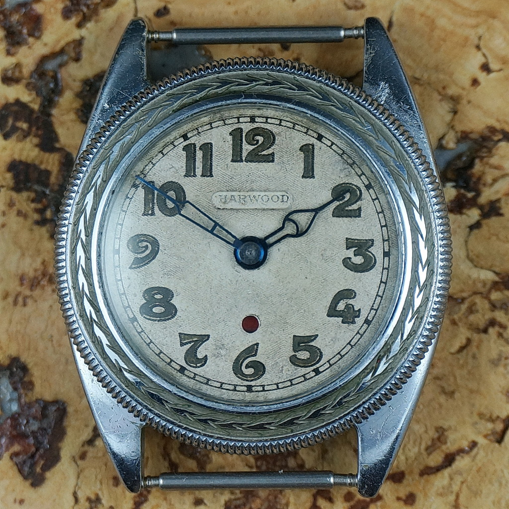 First Harwood self-winding watch