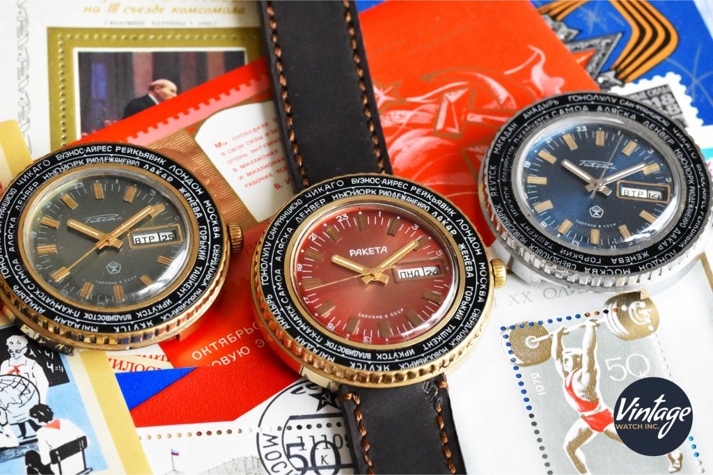 Raketa World Time