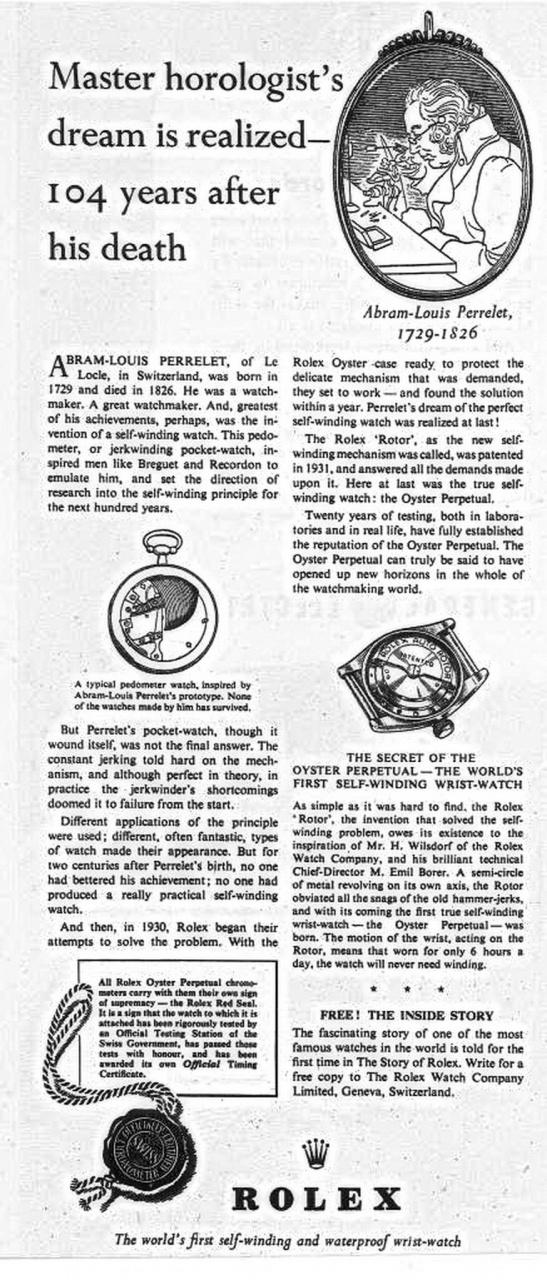 Rolex Perrelet article