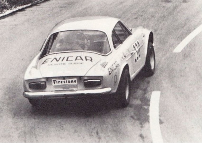 Philippe Erhard's Renault Alpine sponsored by Enicar