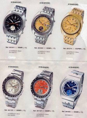 Seiko 6139 Chronograph Models Guide 48