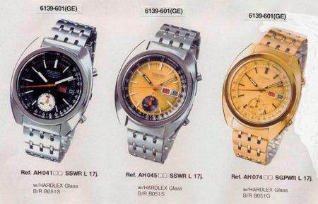 Seiko 6139-601X in the 1974 catalog