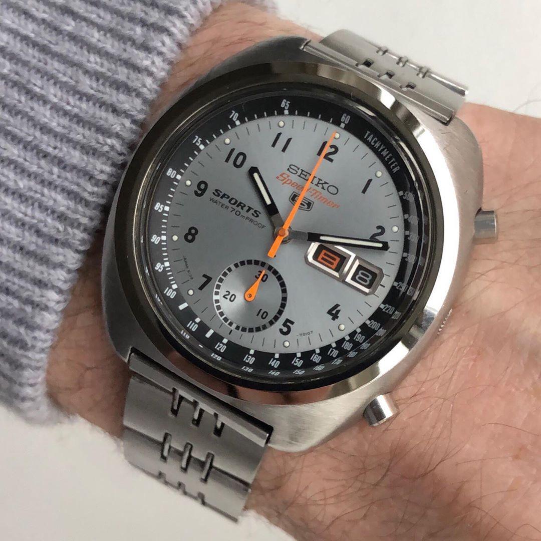 Seiko 6139-7010 Military Silver Dial