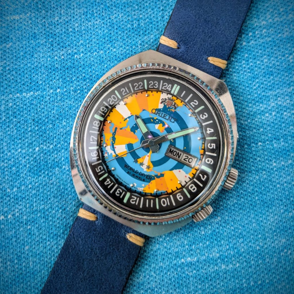 Orient World Diver, Map Dial