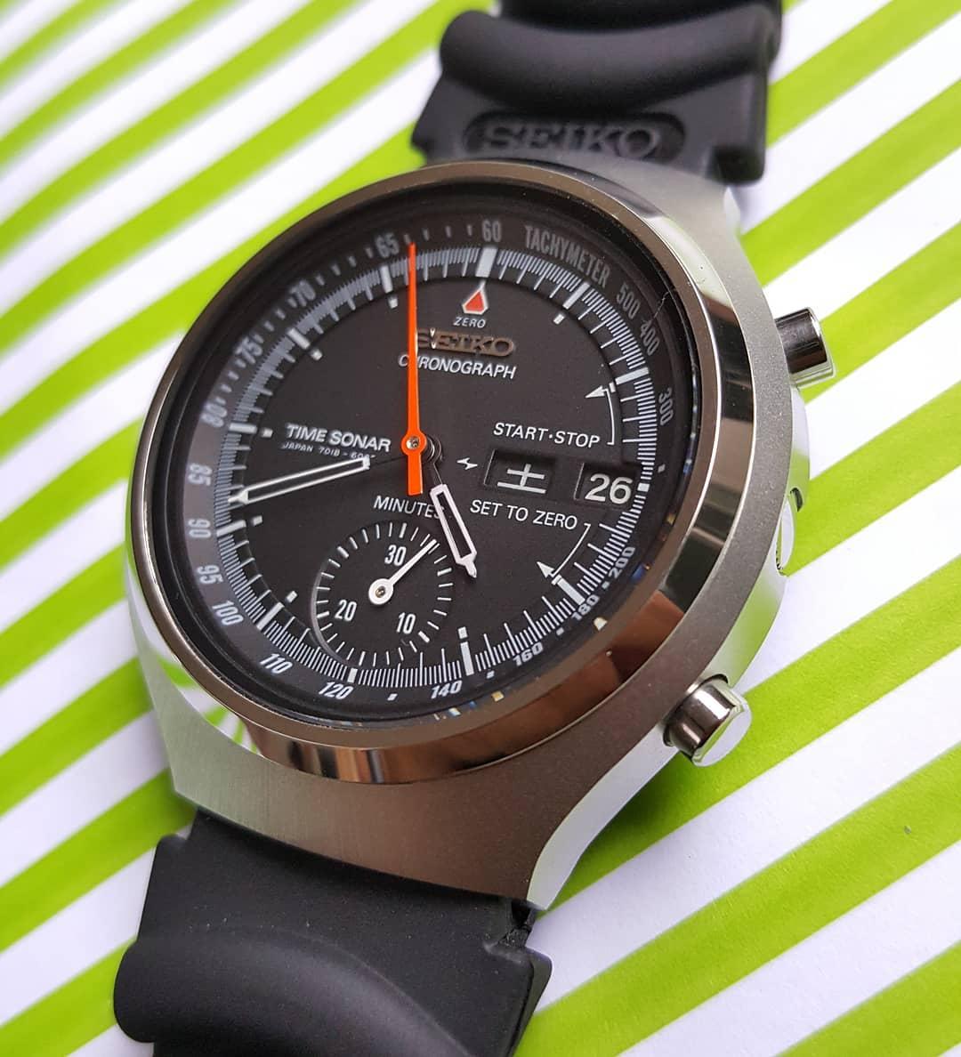 """Seiko 7018-6000 """"Time Sonar"""""""