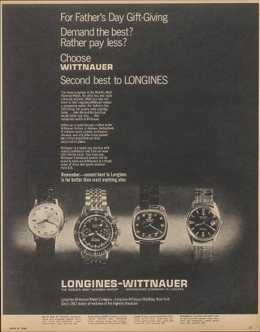Wittnauer: Second Best to Longines