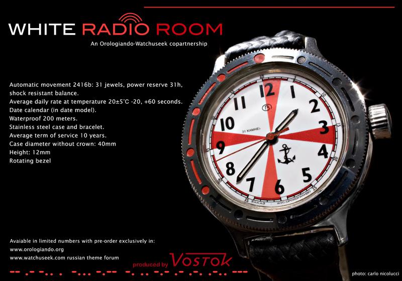 Vostok White Radio Room Watchuseek & Orologiando Limited Edition