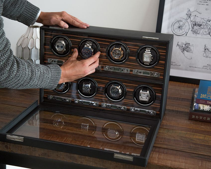 8-piece watch winder by Wolf